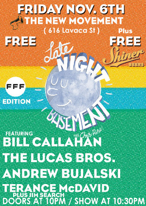 Late Night Basement is bringing quite a bit of talent to Austin. (Credit: Late Night Basement)