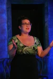 Roxy Castillo addresses the audience